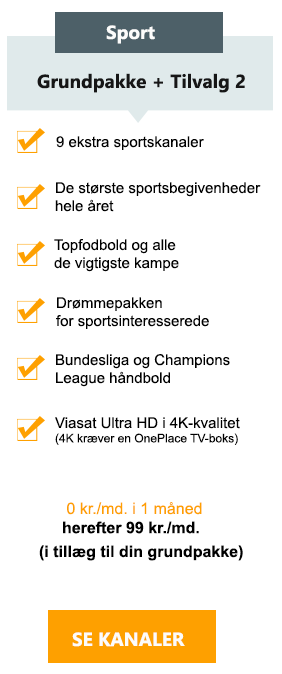 Canal digital tillægs pakke - Sport