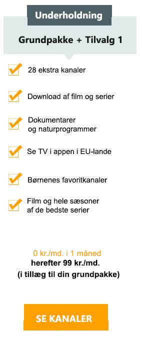 Canal digital tillægs pakke - Underholdning